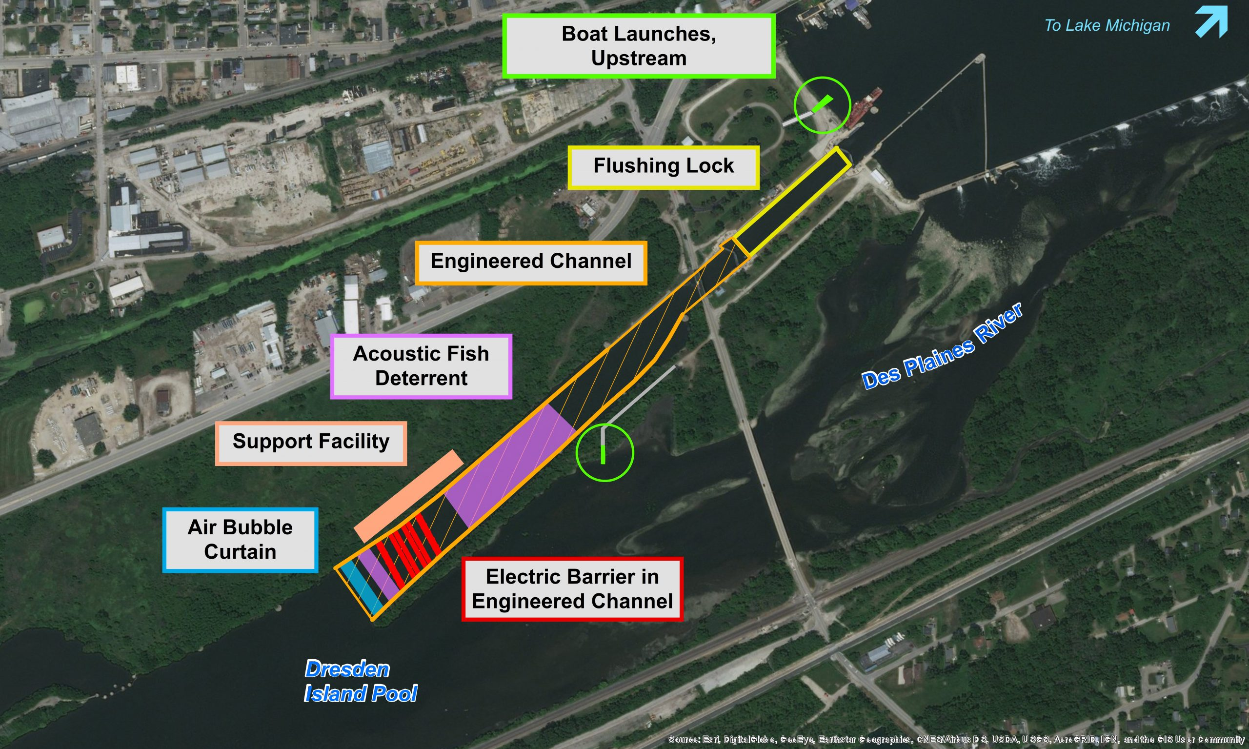 Brandon Road Asian Carp Barrier Facilities