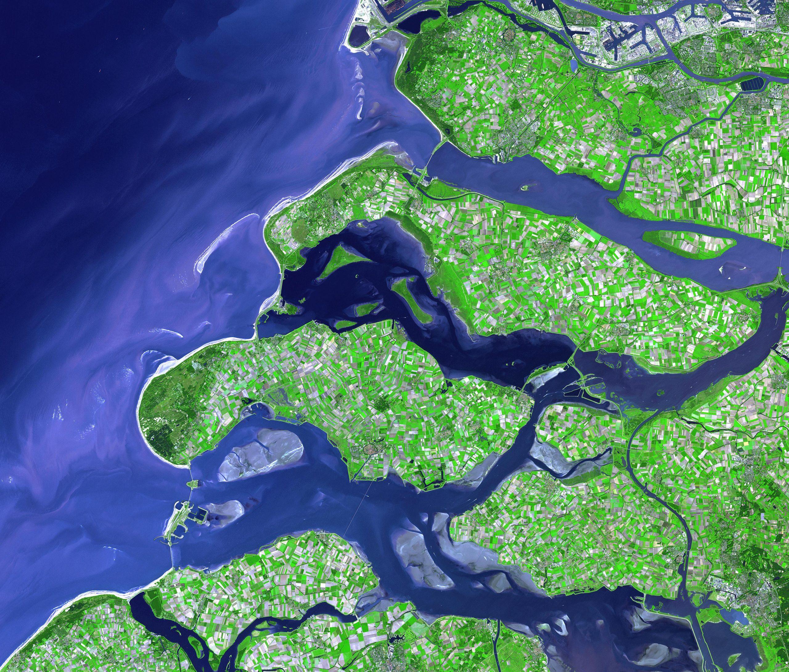 Dutch Delta Works NASA space picture